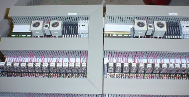 Twin control panels pre-wired for installation in enclosures